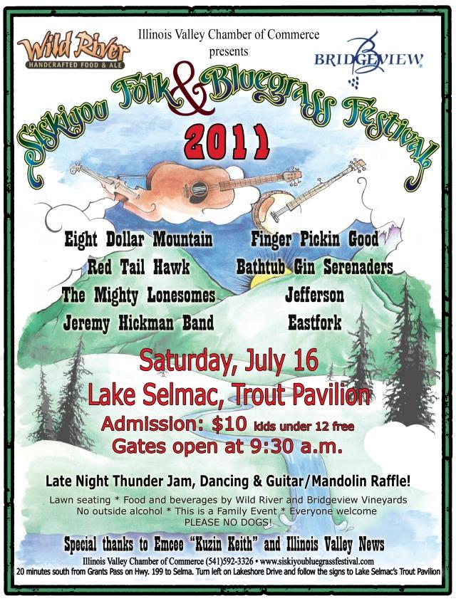 Siskiyou Folk and Bluegrass Festival Flyer